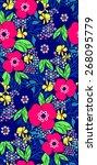 summer floral garden seamless... | Shutterstock .eps vector #268095779