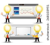 people set   business   bulb... | Shutterstock .eps vector #268103951
