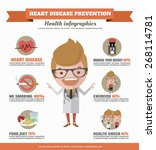 heart disease prevention... | Shutterstock .eps vector #268114781