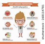 heart disease prevention... | Shutterstock .eps vector #268114781