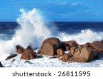 Wonderful Wave Crashing On A...