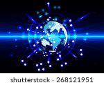 abstract global future... | Shutterstock .eps vector #268121951