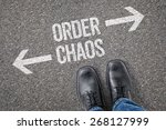 decision at a crossroad   order ... | Shutterstock . vector #268127999