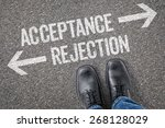 decision at a crossroad  ... | Shutterstock . vector #268128029