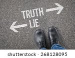 decision at a crossroad   truth ... | Shutterstock . vector #268128095