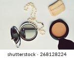makeup eyeliner brush with... | Shutterstock . vector #268128224