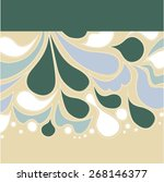 pattern of droplets ornament... | Shutterstock .eps vector #268146377