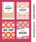 vector card set templates.... | Shutterstock .eps vector #268146485
