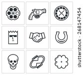 russian roulette game icons ... | Shutterstock .eps vector #268147454