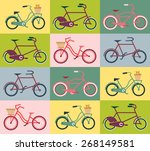 vintage colored seamless... | Shutterstock .eps vector #268149581