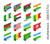 flags of the world  africa  set ... | Shutterstock .eps vector #268151711