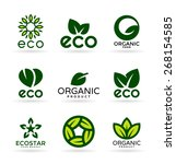 organic products and ecology.... | Shutterstock .eps vector #268154585