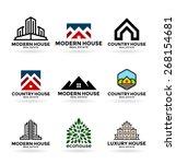 buildings. real estate  13    Shutterstock .eps vector #268154681