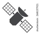satellite  silhouette  vector... | Shutterstock .eps vector #268157921