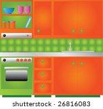 retro kitchen | Shutterstock .eps vector #26816083
