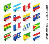 flags of the world  south... | Shutterstock .eps vector #268163885