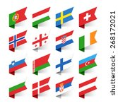 flags of the world  europe  set ... | Shutterstock .eps vector #268172021