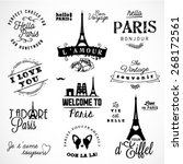 paris badges and labels in... | Shutterstock .eps vector #268172561