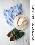 set of clothes and various... | Shutterstock . vector #268180391