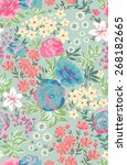 seamless floral pattern in... | Shutterstock .eps vector #268182665