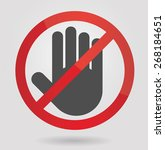 no entry sign | Shutterstock .eps vector #268184651