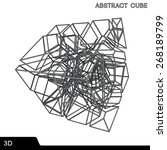 abstract technology cube.... | Shutterstock .eps vector #268189799