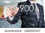 the businessman is choosing iso ... | Shutterstock . vector #268202447