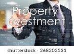 the businessman is choosing... | Shutterstock . vector #268202531