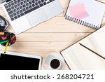 office desk  | Shutterstock . vector #268204721