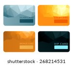 gold  silver  bronze  vip... | Shutterstock .eps vector #268214531