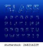 glass font  | Shutterstock . vector #268216229