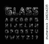 glass font  | Shutterstock . vector #268216235
