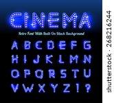 retro cinema font | Shutterstock . vector #268216244