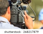 photographers are taking a... | Shutterstock . vector #268217879
