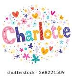 charlotte girls name decorative ... | Shutterstock .eps vector #268221509