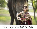Woman Wearing Typical Thai...