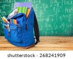 school  backpack  back. | Shutterstock . vector #268241909