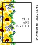 romantic invitation. wedding ... | Shutterstock .eps vector #268243751