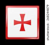 flag of montenegro. metal icons ...   Shutterstock .eps vector #268244879