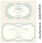 wedding invitation cards ... | Shutterstock .eps vector #268244939