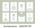 cute collection of ethnic cards ... | Shutterstock .eps vector #268259729