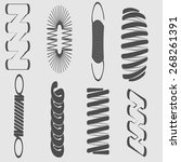 monochrome icon set with springs | Shutterstock .eps vector #268261391