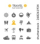 vector flat icon set   travel  | Shutterstock .eps vector #268261934