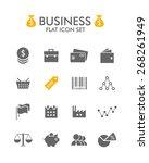 vector flat icon set   business  | Shutterstock .eps vector #268261949