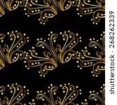seamless wallpaper pattern  dark | Shutterstock .eps vector #268262339