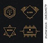 hipster logo set.     Shutterstock .eps vector #268264079