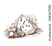 vintage clip art and... | Shutterstock .eps vector #268267085
