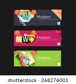 set of banners with stickers ... | Shutterstock .eps vector #268276001