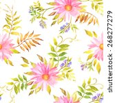 beautiful seamless floral... | Shutterstock .eps vector #268277279