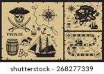 set of vintage pirate elements. ... | Shutterstock .eps vector #268277339